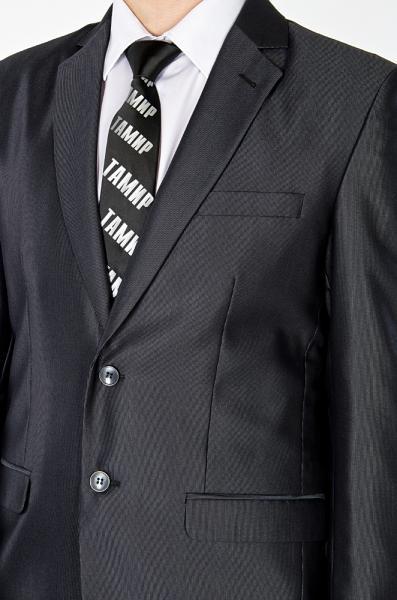 Фото Костюмы Костюм темно-серый с блеском однотонный
