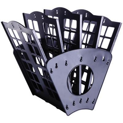 Лоток для бумаг 7-ти секционный веерный черный