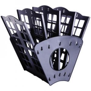 Фото Канцелярские товары (ЦЕНЫ БЕЗ НДС), Лотки для бумаг Лоток для бумаг 7-ти секционный веерный черный