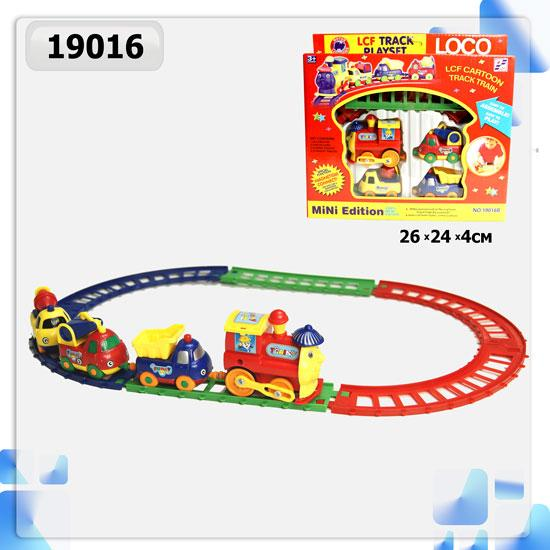 железная дорога 19016b, детский паровозик, в коробке: 26х24х4 см