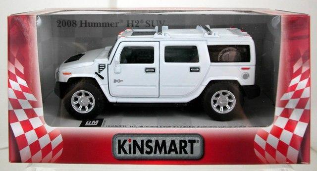 "машина метал.""kinsmart"" kt5337w (96шт/4)""2008 hummer h2 suv"" в кор. 16*8,5*7,5см"
