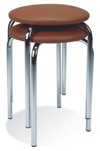 Табурет СОФИ хром (CHICO) для дома, бара, офиса, хромированный, ассорти по цветам