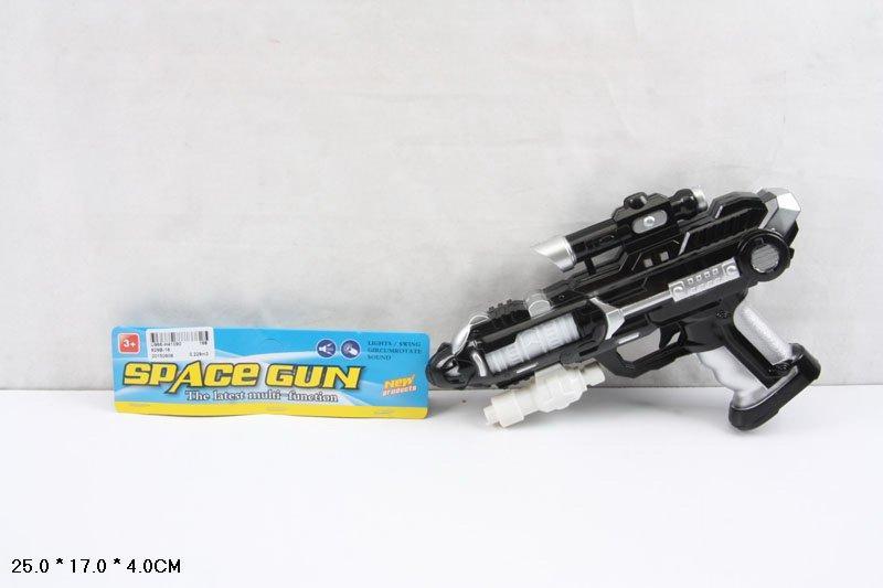 пистолет 929b-16,музыкалтный на батарейках, в пакете: 25х17х4 см