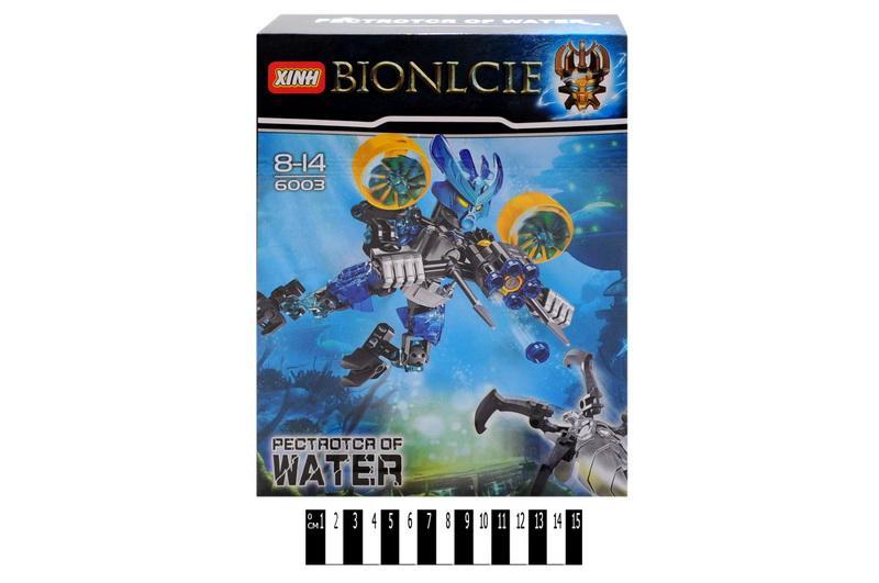 "конструктор ""brick"", ""bionicle"", 63 дет. 6003 в коробке: 28,5х21,5х5,5 см"