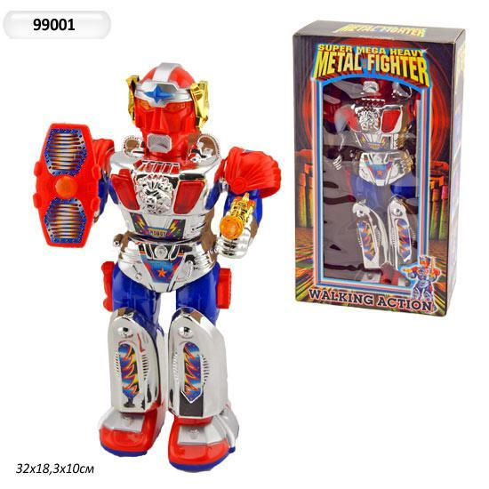 робот на батар. 99001 (24шт) с оружием, в кор. 32*18,3*10см