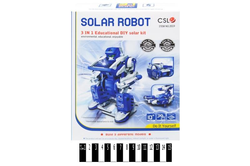 робот - конструктор на сонячних  батареях (коробка) 2019 р.19х25х5 см.