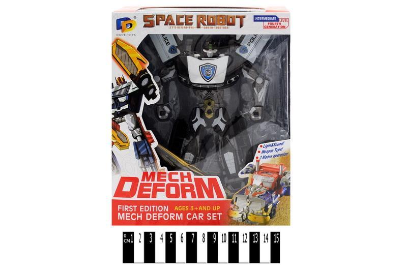 "игрушка ""робот-трансформер"" d622-е235 (633624), в коробке, размер: 22х8,5х25,8 см"