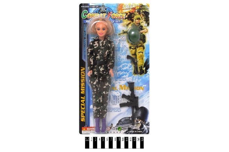 лялька-солдат з автоматом (планшет) 111в р.35х19 см.