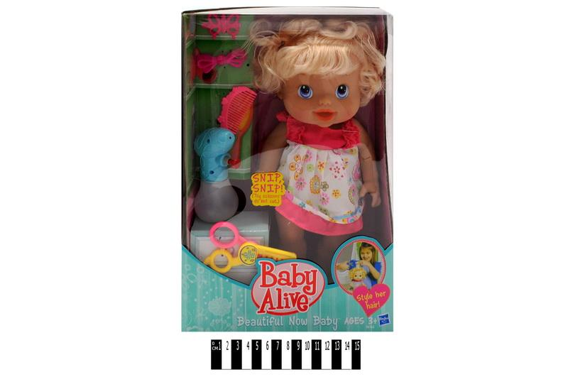 """пупс - девочка """"baby alive"""" 35752-6, с аксессуарами, в коробке: 22,5х12х35,5 см"""