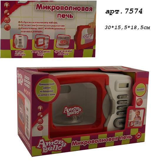 "микроволновая печь ""amore bello"" 7574 (12шт) батар., свет, жк дисплей, в кор. 30,5х18,8х15,8 см"