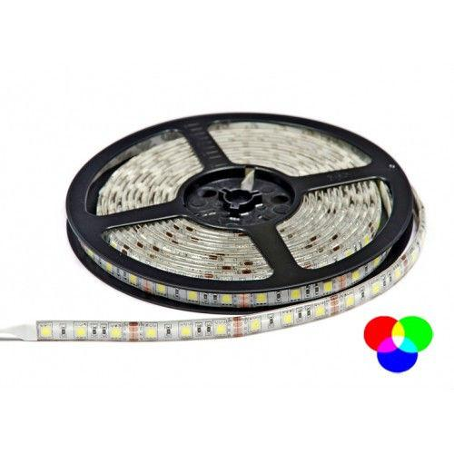 Светодиодная лента 5м B-LED 5050-60 RGB IP65 герметичная