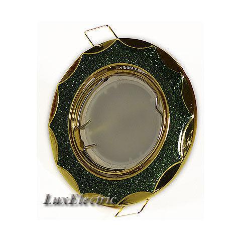 Светильник точечный ZA 723 зеленый с золотом