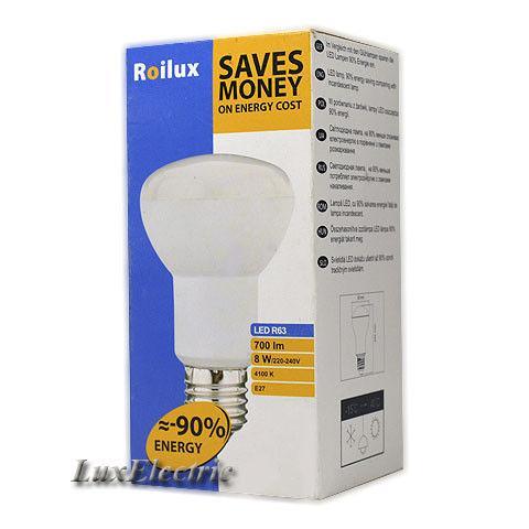 LED лампа Roilux R63 8W E27