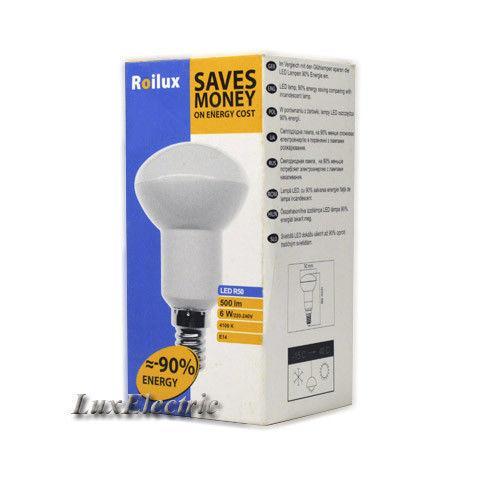LED лампа Roilux R50 6W E14