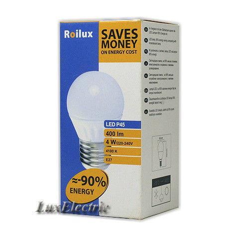 LED лампа Roilux 4W E27