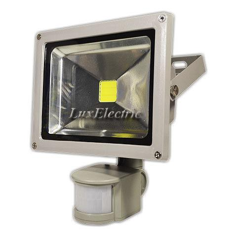 Прожектор светодиодный с датчиком движения LED 20W Slim