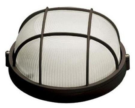 Светильник герметичный НПП 60Вт круг с решеткой