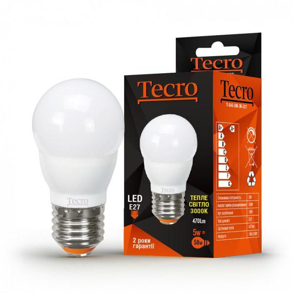 Лампа светодиодная Tecro 5 Вт G45 4000К