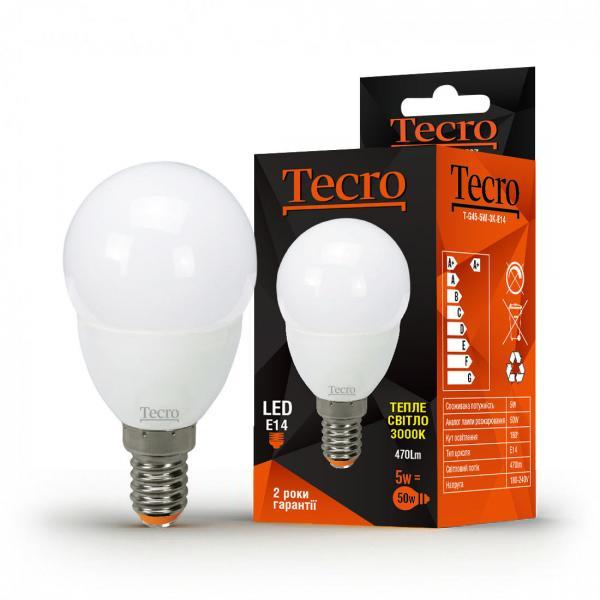 Лампа светодиодная Tecro 5 Вт G45  3000К