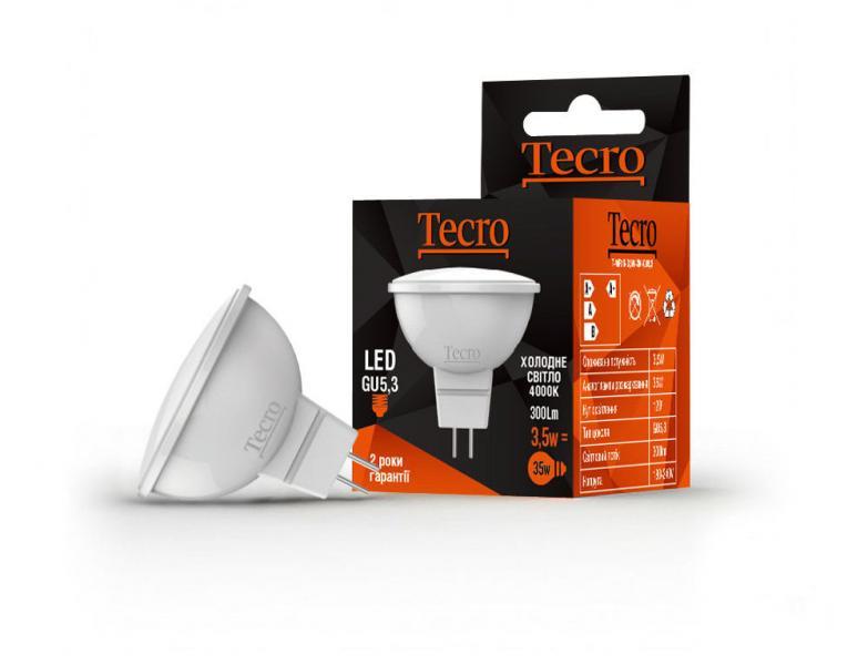 Лампа светодиодная Tecro 3,5 Вт MR16 GU5.3  3000К