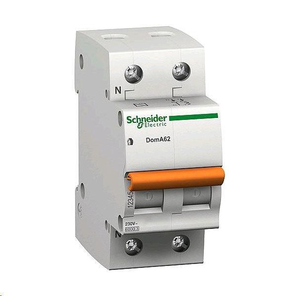 Автоматический выключатель Schneider ВА63 1П+Н 63A двухполюсный