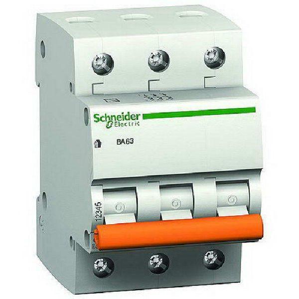 Автоматический выключатель Schneider ВА63 3П 6A трехполюсный