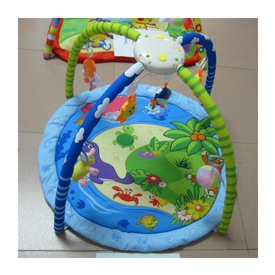 """коврик для малышей 898-28hb (12шт) """"морские животные"""" батар., муз., с погремушками на дуге,77*59см"""
