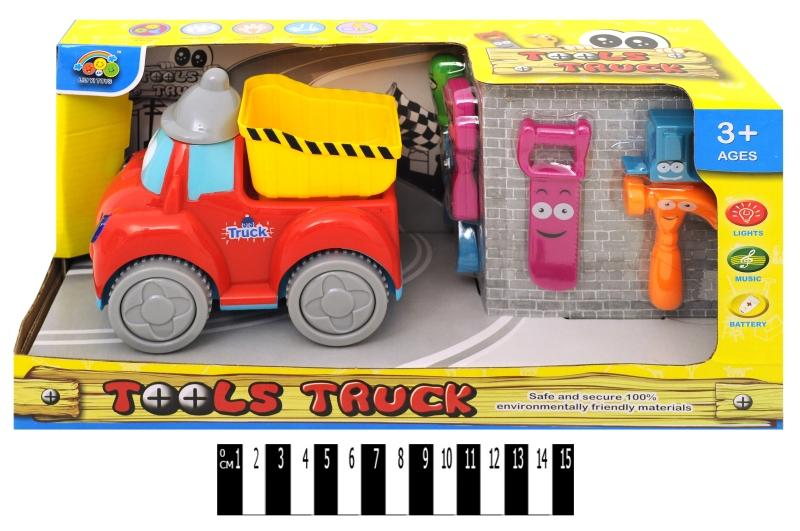 грузовик    інерц.  з світ. ефект. (коробка) ly065 р.35х14х17,5 см.