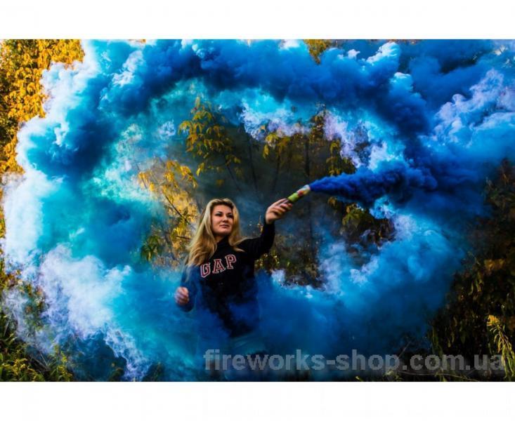Фото Цветные дымы, сигнальные огни (файера) Дым MA0512mix/синий