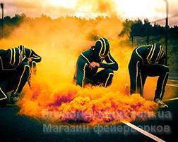 Фото Цветные дымы Дым MA0514/ЖЕЛТЫЙ-ДВОЙНОЙ!!!!