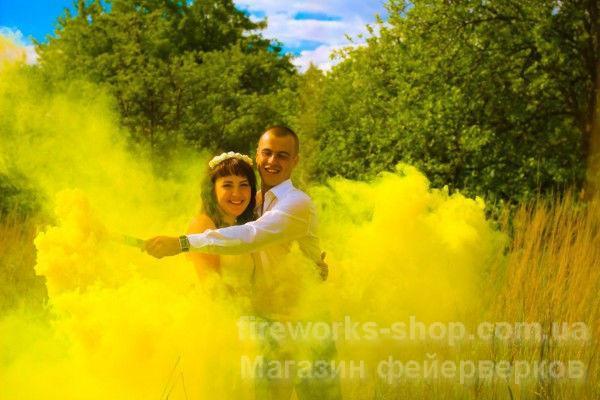 Фото Цветные дымы дым желтый L28
