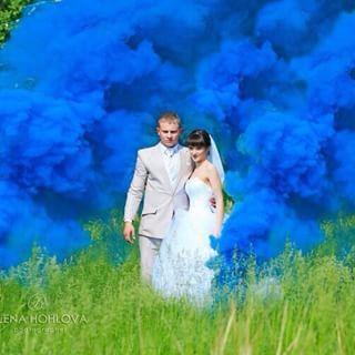 дым синий L28