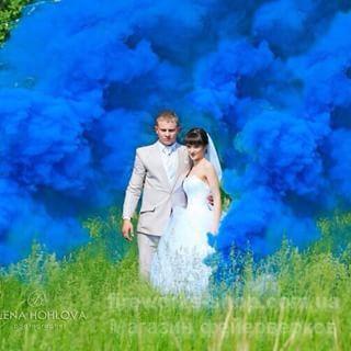 Фото Цветные дымы дым синий L28