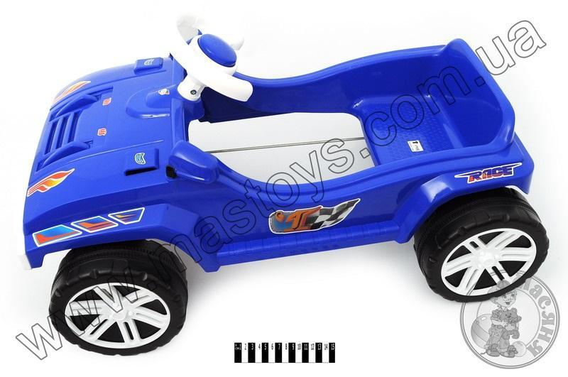 машина для катання  педальна  синя  792