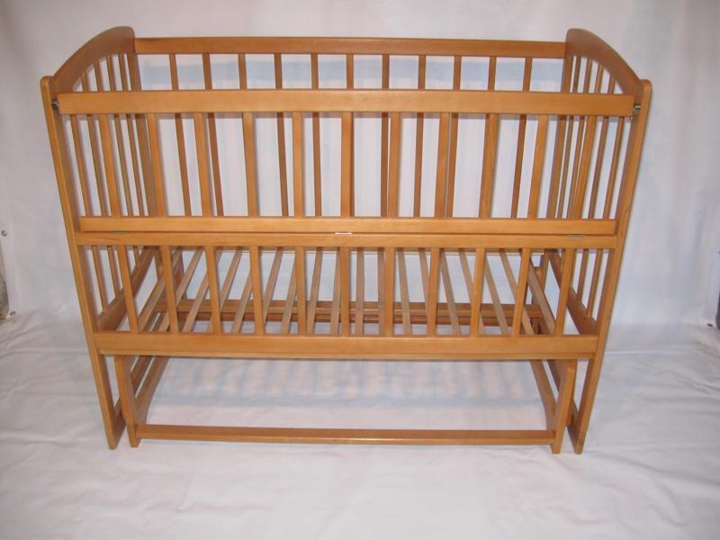 """кровать качалка с открывающим боком на шарнирах """"запятая"""", 120х60"""