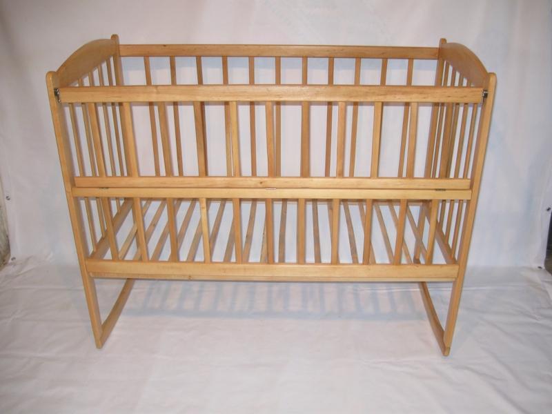 кровать качалка с открывающим боком, 120х60