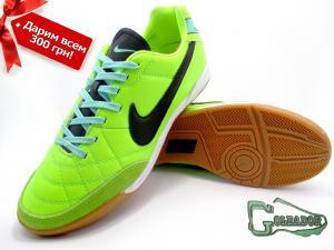 Фото ФУТБОЛЬНАЯ ОБУВЬ, ФУТЗАЛКИ (БАМПЫ) Футзалки (бампы) Nike Tiempo Genio (0288)