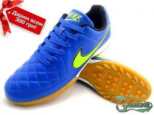 Фото ФУТБОЛЬНАЯ ОБУВЬ, СОРОКОНОЖКИ (МНОГОШИПОВКИ) Сороконожки (многошиповки) Nike Tiempo Genio (0366)