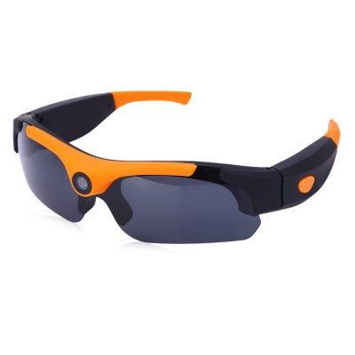 Очки видеорегистратор для спорта, с камерой 1080P 30 fps. Оранжевые.