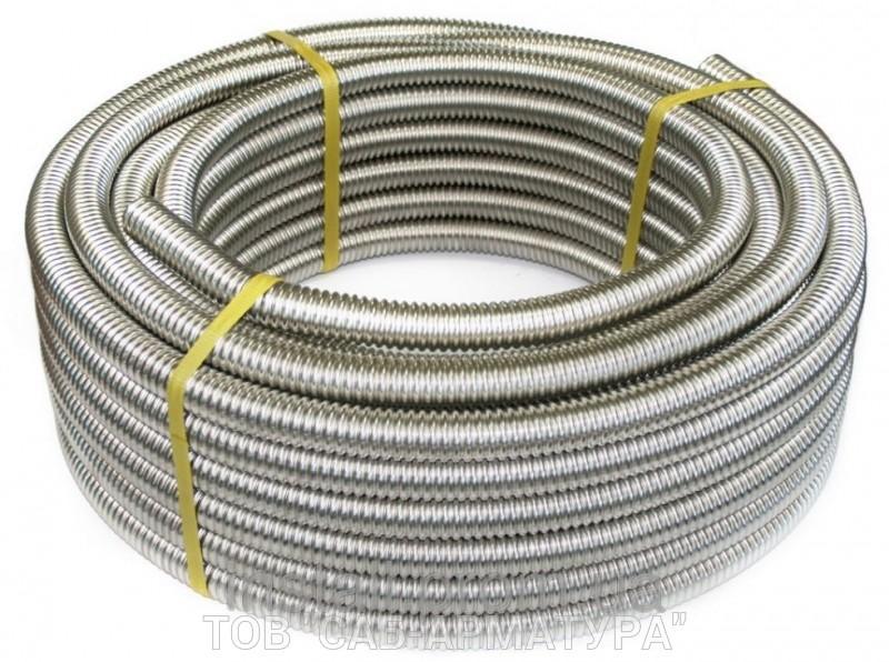 Труба гофрированная нержавеющая сталь отожженная Ф 25 мм (1*)