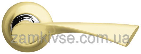 ARMADILLO Ручка раздельная Corona LD23-1SG/CP-1 матовое золото/хром