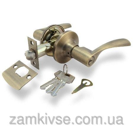 Ручка-защелка Апекс 8023-01 AN (ключ)