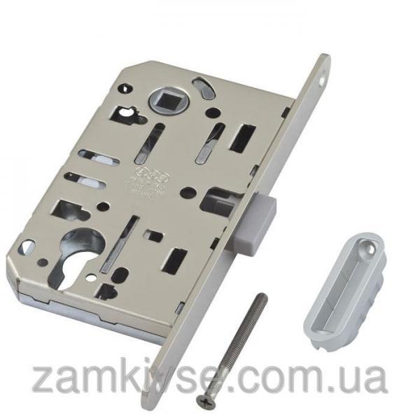 Механизм AGB Mediana Polaris магнитный под ключ мат.хром с ответной планкой