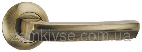 PUNTO Ручка раздельная ALFA TL ABG-6 зеленая бронза