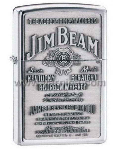 ZIPPO JIM BEAM PEWTER EMBLEM - 250JB928