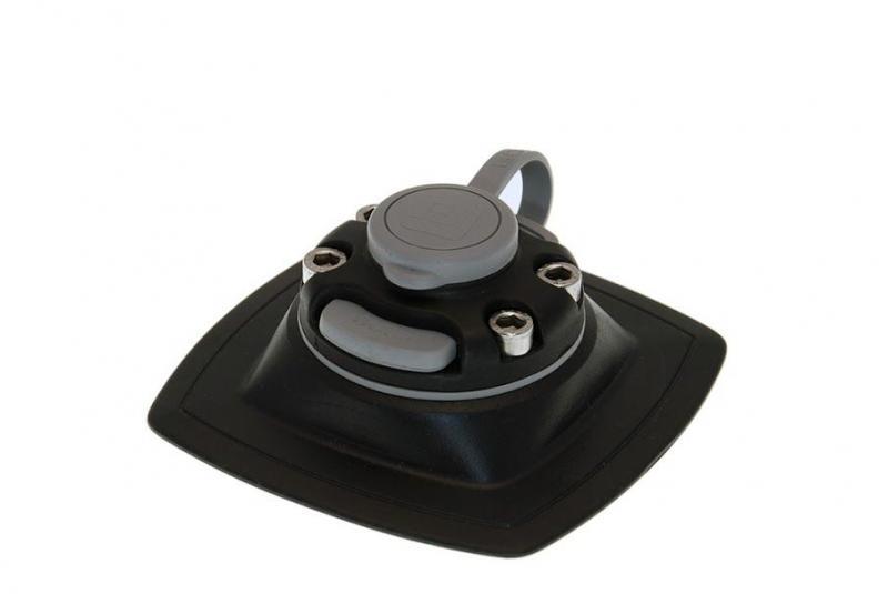 FMp224 Замок+монтажная площадка(черный)для установки на надувной борт