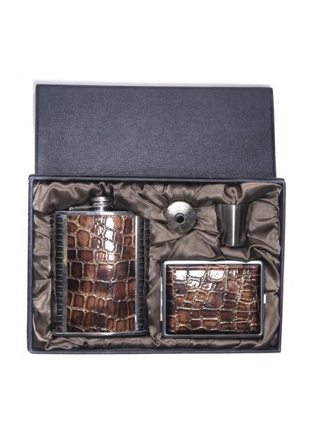 Подарочный набор (фляга+рюмки) F-7235