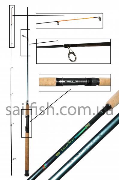 Удилище спиннинговое EOS Lazer 2,4 / 3 - 15 g