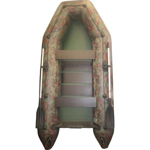 Лодка надувная Колибри KM-360 D NEW(килевая, цветная) + слань