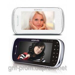Видеодомофон Kenwei S704C -W80 BLACK / WHITE